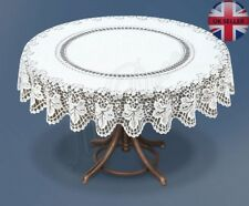 "Tablecloth round lace white NEW Ø140 cm (55"") fantasic Xmas gift/present"