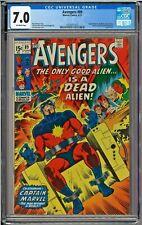 Avengers #89 CGC 7.0 Captain Marvel Ronan Supreme Intelligence app Sal Buscema