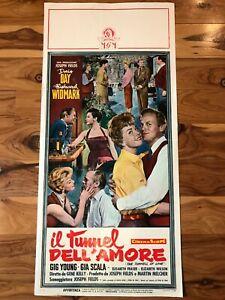 Original Italian Poster 13x28: The Tunnel of Love (1958) Doris Day