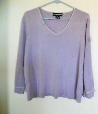 Norton McNaughton Women's Light Purple Lilac Knit Top Blouse Sweater