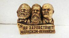 Lenin&K.Marx&Engels  bust (statue)    H= 11cm