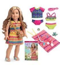 AMERICAN GIRL LEA Doll Plus Mix & Match Swim Set and Beach Accessories NEW