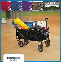 Folding Wagon Cart Collapsible Garden Beach Utility Outdoor Buggy Camping Sports