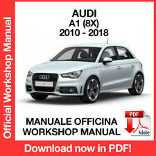 AUDI A1 8X 2010 2018. Service Manuale Officina Riparazione Workshop Manual ENG