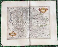 XVII ème - Comté d'Artois Superbe Carte par Mercator 58 x 47,5 cm Editée en 1628