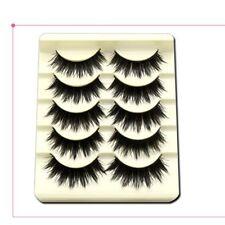 5 Pairs Maquillaje Natural Cruzar Negras Pestañas Falsas Pestañas Postizas