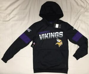 Nike On Field Minnesota Vikings NFL 100th Therma Hoodie Pullover - Men's Small