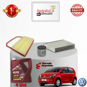KIT TAGLIANDO FILTRI E OLIO VW UP 1.0 55KW 75CV DAL 2011 ->