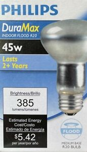 Philips DuraMax 45-Watt R20 Incandescent Flood Light - 385 Lumens - NEW