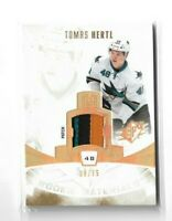 2013-14 SPX ROOKIE MATERIAL PATCHES #RMTH TOMAS HERTL /75 SHARKS