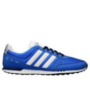 adidas mens neo city racer  trainer shoe royal blue new f99331 uk 6,8,9,10.5