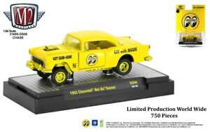 """Chase 1955 CHEVROLET BEL AIR GASSER YELLOW """"MOON"""" 1/64 DIECAST M2 31600-GS08"""