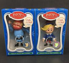 New In Box Hermey & Yukon Rudolph Collectable Figurine, Talk & Sing Lot Bundle