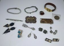 Lot Of Mostly Sterling Silver Jewelry And Other Oddities