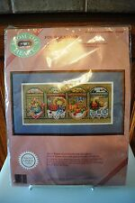 Dimensions From the Heart FOUR SEASONS Unopened Cross Stitch Kit 53541 1989