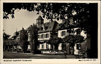RÜDESHEIM Rhein AK Wald Hotel Jagdschloss Niederwald Postkarte ~1950/60