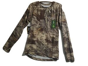Realtree Mens Long Sleeve Insect Repellent Tee XL 46-48 Camouflage stretch NWT