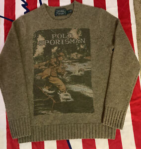 Polo Ralph Lauren Men's Sportsman Wool Sweater - Size Small EUC