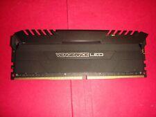 CORSAIR VENGEANCE LED 16GB (1x16GB) DDR4 3200MHz C16 Desktop Memory - White LED