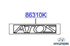 Genuine Hyundai Atos 2001 - 2003 ATOS Badge Emblem - 8631402000