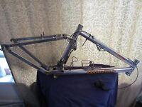 Answer Manitou Full Suspension Mountain Bike Frame Shimano XTR Easton Made in US