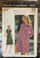 Vtg Sewing Pattern Misses Butterick 4047 Shirt Dress Sz 38 70s Uncut