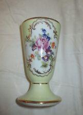 um 1925  S A  Ziervase Porcelaine LIMOGES France - Handmalerei mit ROSE