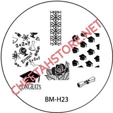 Stamping plaque Bundle Monster BMH23 pour vernis ongles