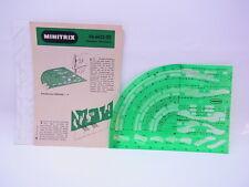 65024 Minitrix N 56-6622-00 Zeichenschablone  Gleisplanschablone Maßstab 1:5