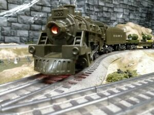 vintage military marx 400 train set with transformer and track. Runs great!!