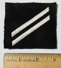Authentic Us Navy Seaman 2Nd Class (E-2) Rate Patch, White Hashmarks, Post Wwii