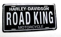 Harley Davidson Road King License Plate Metal Enamel Embossed Car Auto Tag NEW