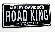 Harley Davidson Road King License Plate Metal Enamel Embossed Car Auto Tag NEW