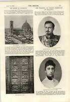 1893 Prince Ferdinand Of Bulgaria Princess Marie Louise Of Parma