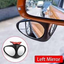 Dual Blind Spot Convex Glass Mirror For Car Left Rearview Universal Accessories