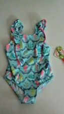 Penelope Mack 4T Toddler Girls Beach 1 Pc Swimsuit Blue Seahorse Whale Anchor