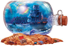 Jigsaw puzzle Maritime Run Aground Ship in a Bottle 1000 piece NEW Made in USA