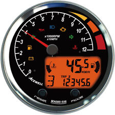 Acewell MA85 MA085-456 Modern 9000RPM scale with speedometer and warning lamps