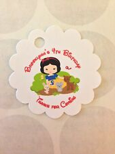 Baby Snow White Birthday Customized Favor Tags 40 count