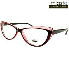"MIASTO ""PARIS"" CAT EYE READER READING GLASSES CHEATERS+2.75 BURGUNDY RED~MEDIUM"