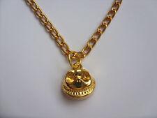 Handmade Gold Nightmare Before Christmas Jack Skellington Necklace