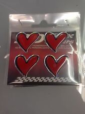 Adesivo morbida resina gommato 3D cuori cuoricini tipo Sweet Years 4 pezzi