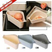 Kitchen Sink Drain Shelf Multifunctional Storage Holder Triangle Rack Organizer