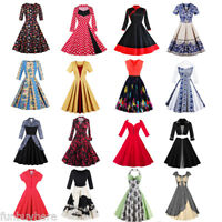 Vintage Style Rockabilly Retro Pin Up 50s Swing Summer Party Prom Dress Skater