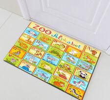 Home Bath Mat Kids Children Bedroom Floor Rug Kitchen Carpet Zoo Alphabet Animal