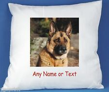 GERMAN SHEPARD PERSONALISED LUXURY SOFT SATIN POLYESTER CUSHION COVER