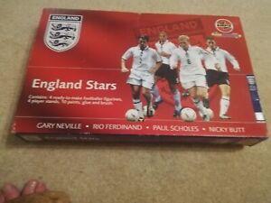 Airfix All Stars England , 4 Figures:-  G Neville N Butt P Scholes R Ferdinand