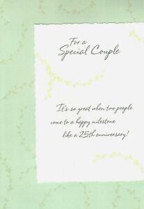 Happy 25 25th Twenty Fifth Silver Anniversary To Special Couple Hallmark Card