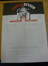 02/04/1997 Manchester United Reserves v Oldham Athletic Reserves  (Single Sheet)