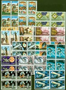 Ascension 1971 Space Travel set of 14 SG135-148 in Superb MNH Blocks of 4